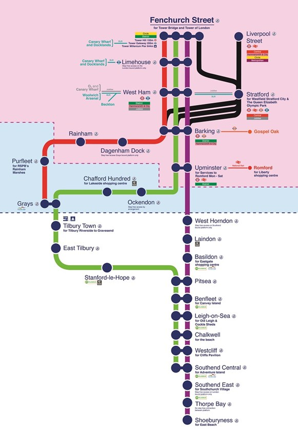 essex train map uk