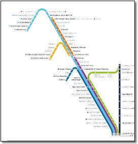 Chiltern train / rail map