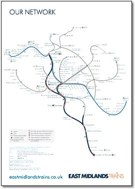 Map Of Uk Midlands.East Midlands Train Rail Maps