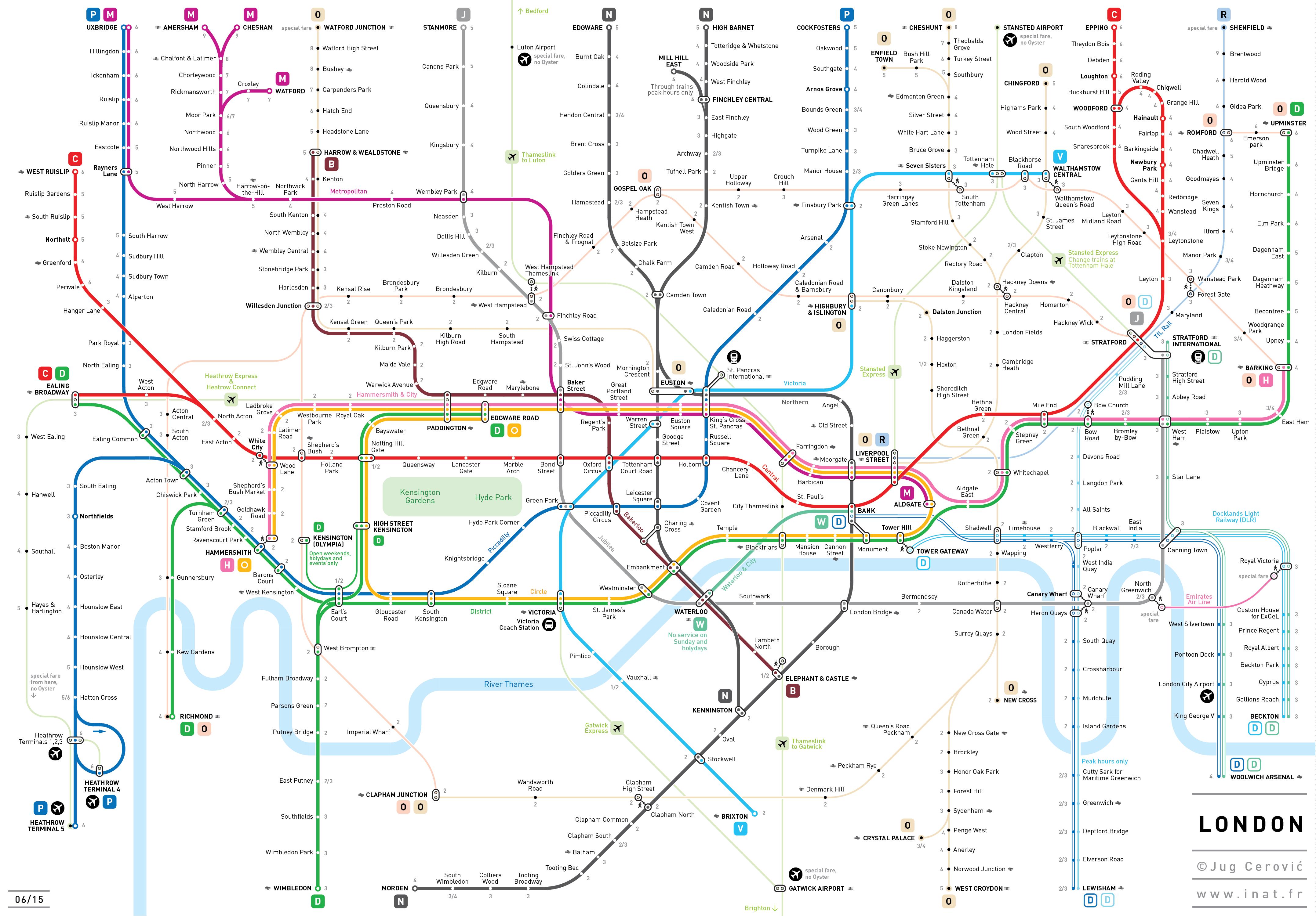 London Underground tube maps