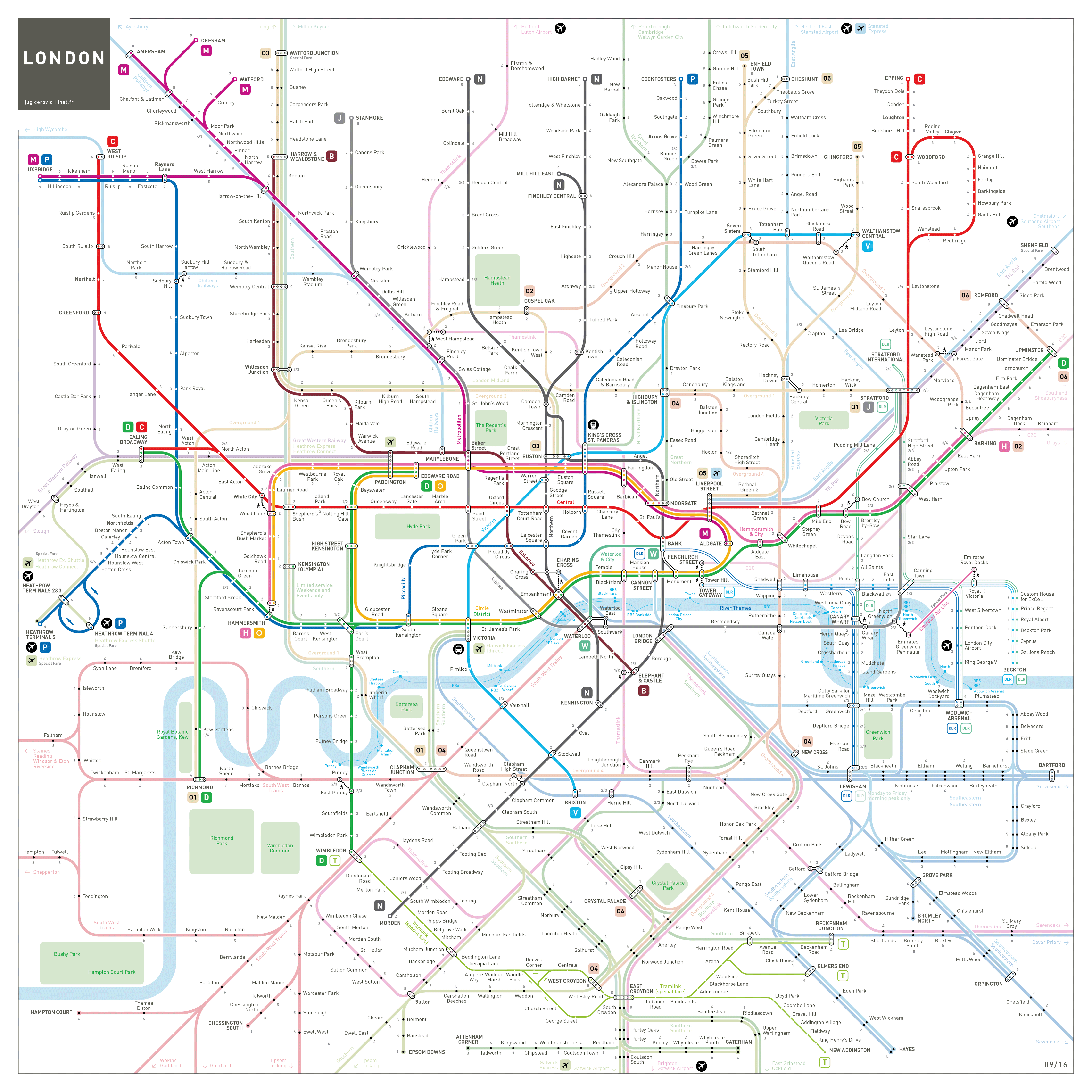 London Tube And Rail Maps - London map png