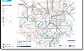 London Tube and Rail maps