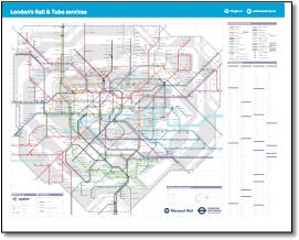 London Tube And Train Map.London Tube And Rail Maps