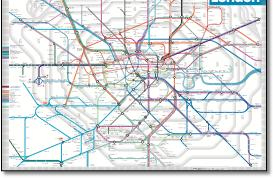 London Underground Rail Map.London Tube And Rail Maps