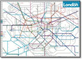 Map Around London.London Tube And Rail Maps