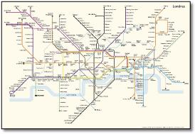 london underground tube map french francais