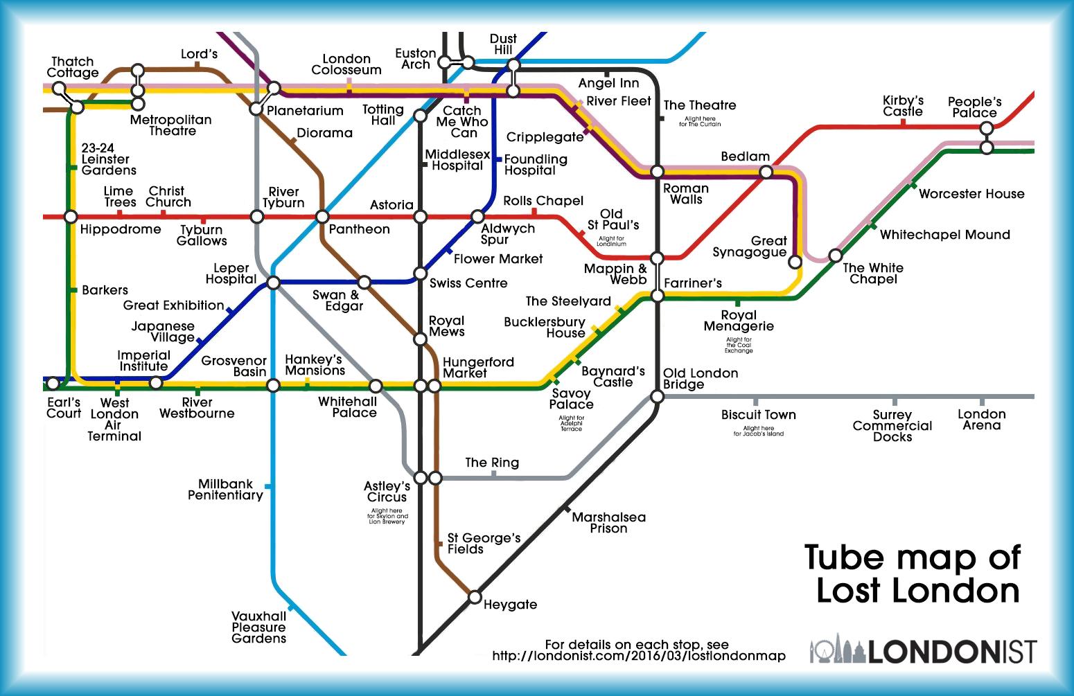 London Underground Tube Maps Themed