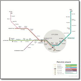 Metrolink tram map
