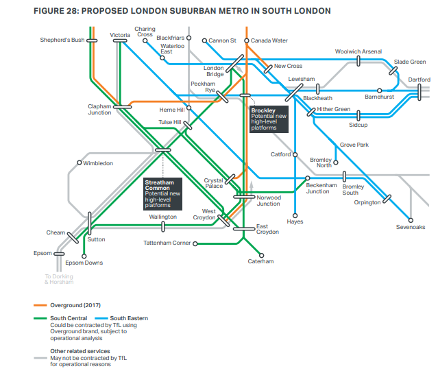 London Line Map.London South East