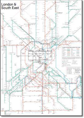 National Rail Timetable Maps - National rail map london