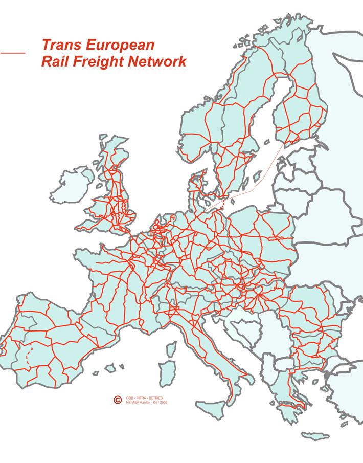 Europe International high speed train rail maps