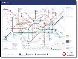 London Underground tube maps official