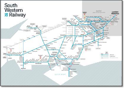 South Western train / rail maps