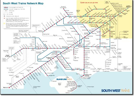 south west trains rail map