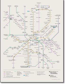 Map Of Uk Manchester.Greater Manchester Local Train Metrolink Network Maps